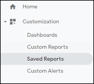 google analytics saved reports