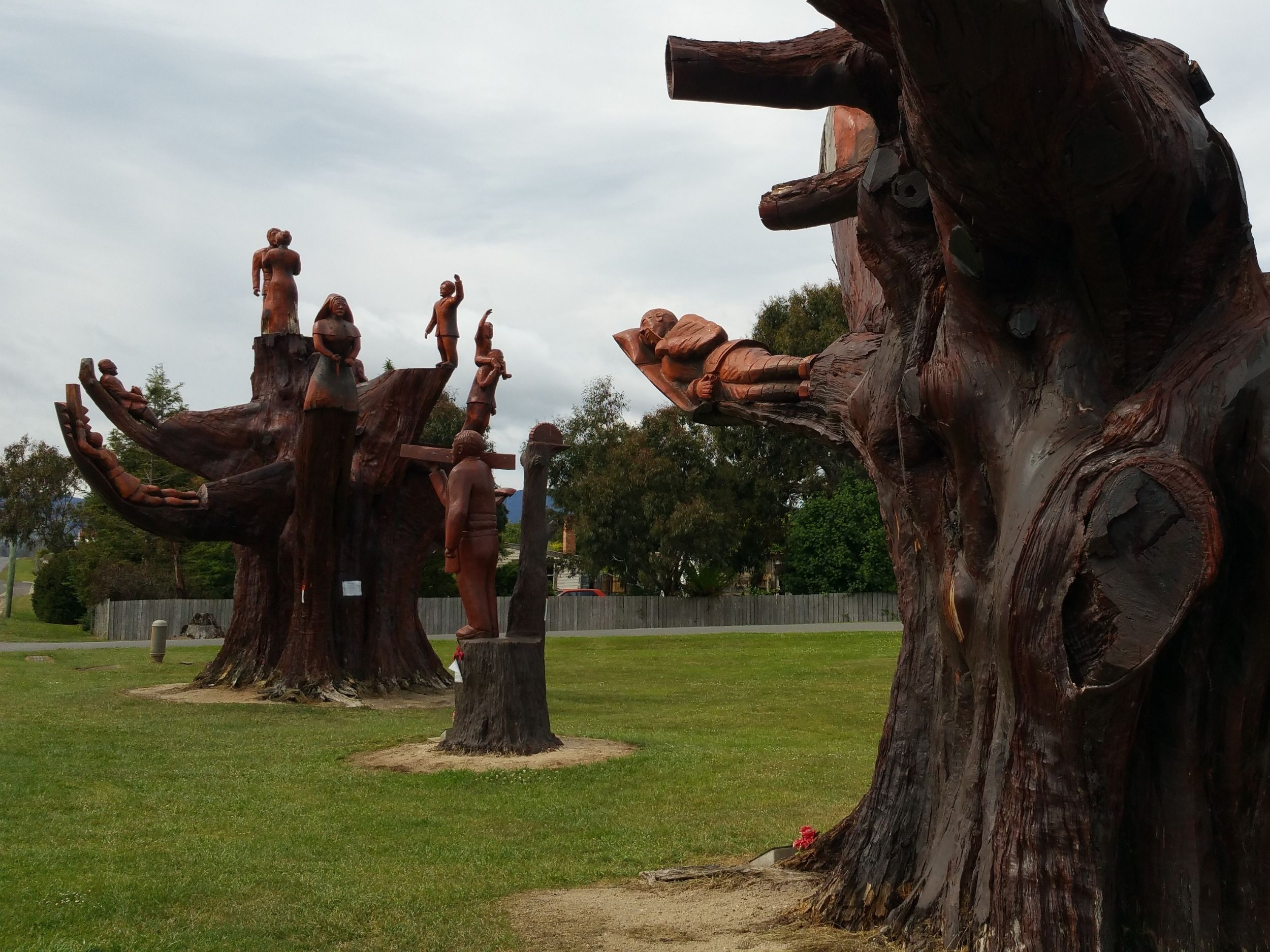 Memorial trees in Legerwood Tasmania